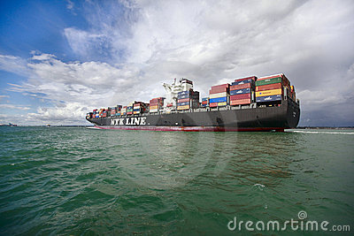 Container Ship Editorial Stock Image