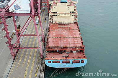 Container ship Editorial Stock Photo