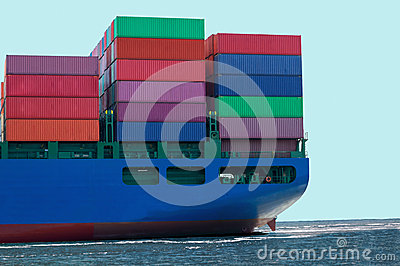Container Ship With Cargo Containers
