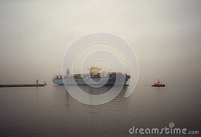 Container ship Edith Maersk in Gdansk Poland Editorial Stock Photo