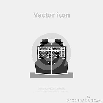 Container ship icon Vector Illustration