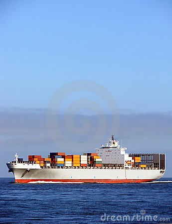Free Container Ship With Deck Cargo Load Sailing At Sea Royalty Free Stock Images - 1582139
