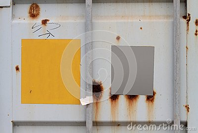 Container With Signs Royalty Free Stock Photos - Image: 20657958