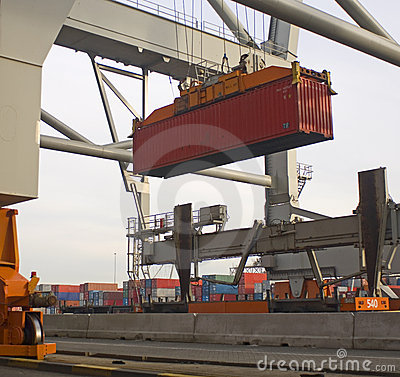 Free Container Terminal Royalty Free Stock Photo - 2416975