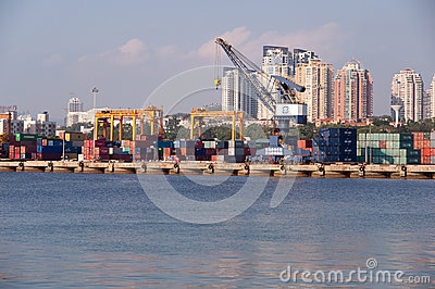 Container terminal Editorial Photo