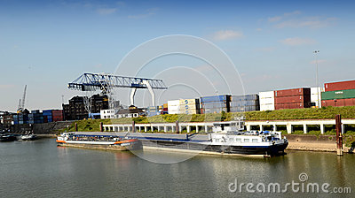 Container Terminal Editorial Stock Image