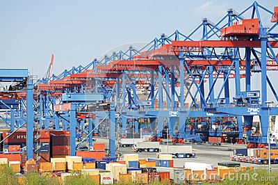 Container Terminal Altenwerder Editorial Photography