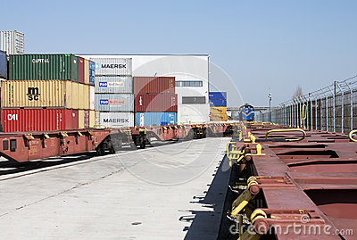 Container terminal  -RAW format Editorial Photography