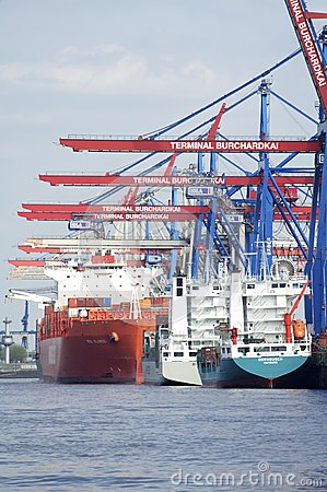 Container Terminal Hamburg Editorial Image