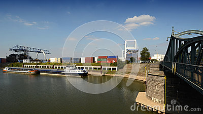 Container Terminal - Krefeld the port city Editorial Photography