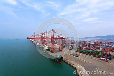 Container terminal Editorial Photography