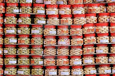 Containers Of Chinese Cookies Editorial Stock Photo