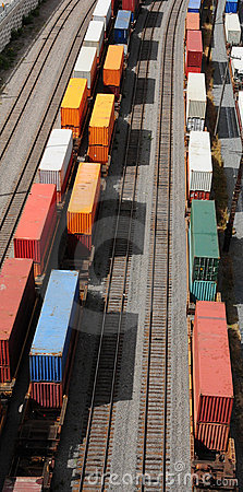 Free Containers On Rails Stock Image - 6357091
