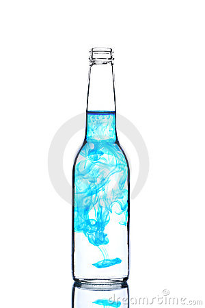 contaminated glass of water. CONTAMINATED WATER (click