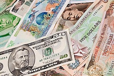 Contas da divisa estrageira