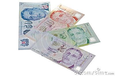 Contas de dólar de Cingapura