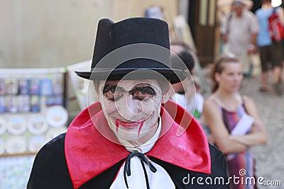 Conteggio Dracula Fotografia Editoriale