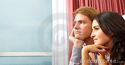 Contemplate couple