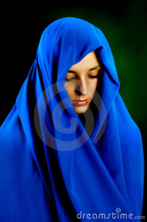 Free Contemplation In Blue Royalty Free Stock Photography - 666277