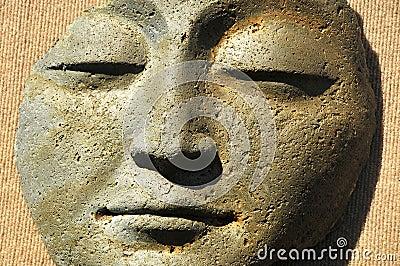 Contemplative Stone Face