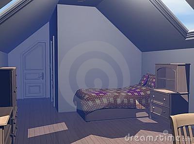 Contemporary Bedroom 3D render