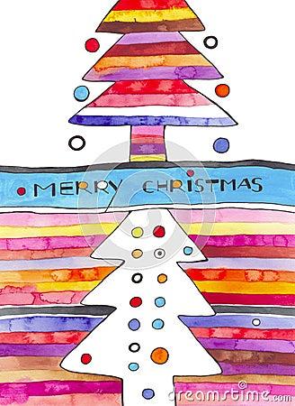 Contemporary Christmas Card