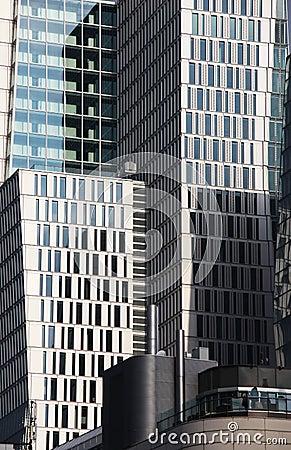 Contemporary Cityscape, Curtain Walls Facade Stock Photo - Image ...