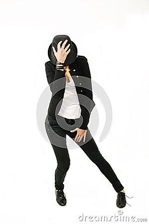 Contemporary dancer with attitude
