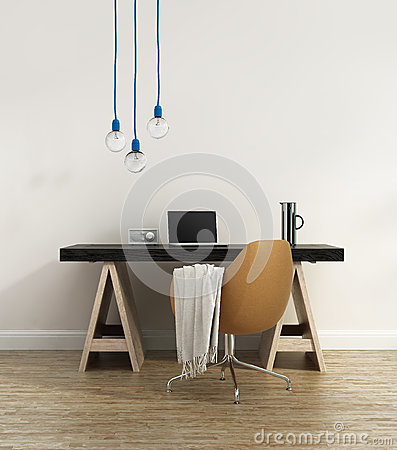 Free Contemporary Elegant Home Office Royalty Free Stock Images - 48278489