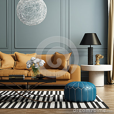 Free Contemporary Elegant Luxury Living Room Royalty Free Stock Photography - 45297057