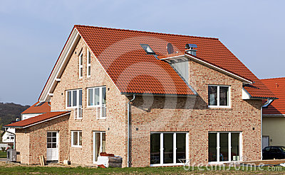 Contemporary Family Home Royalty Free Stock Images - Image: 24404759