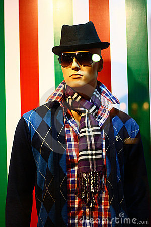 Contemporary Fashion Apparel on Male Mannequin