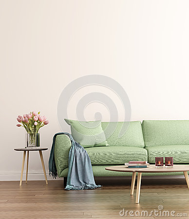 Free Contemporary Green Living Room Royalty Free Stock Photo - 64938715