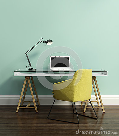 Free Contemporary Home Office Royalty Free Stock Photography - 45818347
