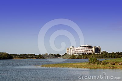 Contemporary Hotel at Walt Disney World in Orlando Editorial Photo