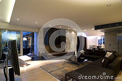 Contemporary loft hall