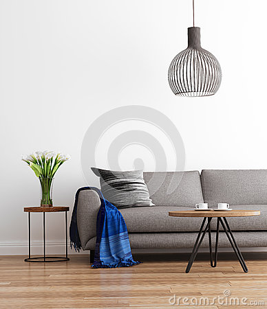 Free Contemporary Modern Living Room With Grey Sofa Stock Images - 62488384