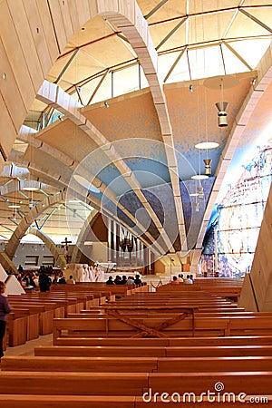 Contemporary Padre Pio Pilgrimage Church, Italy Editorial Stock Photo