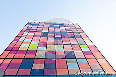 Contemporary urban  colorful architecture