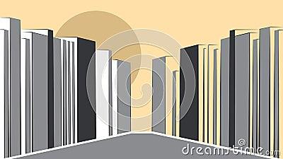 Contemporary urban landscape