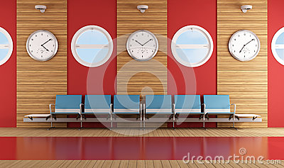 Contemporary waiting room
