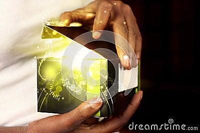 Contenitore di regalo magico