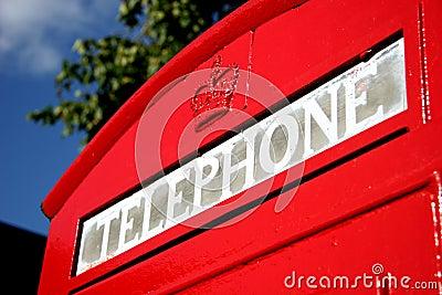 Contenitore di telefono britannico
