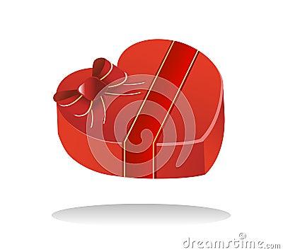 Contenitore dolce di cioccolato del biglietto di S. Valentino