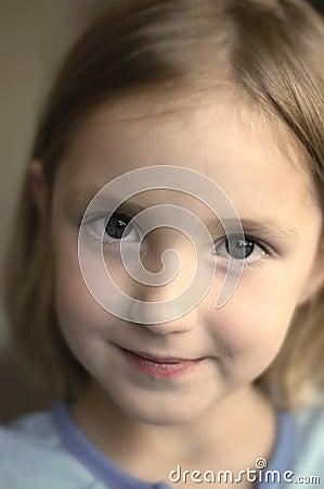 Content Happy Little Girl