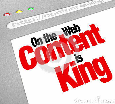 Free Content Is King Website Screen Increase Traffic More Articles Fe Stock Photography - 32993952