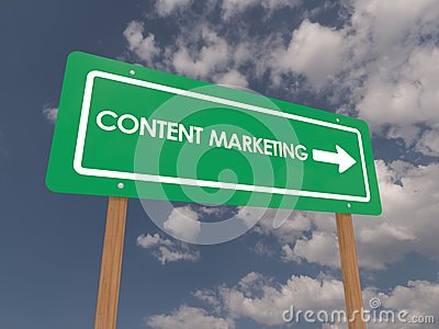 Content marketing road sign