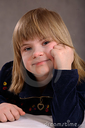 Free Contented Handicapped Girl Stock Photo - 2037350