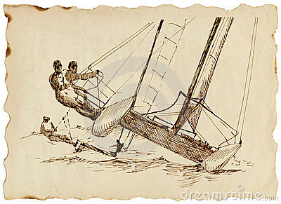 Contestant - a fast catamaran
