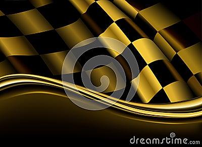 Contexto checkered dourado